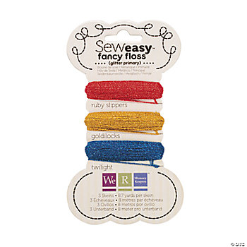 Sew Easy™ Fancy Floss Glitter — Primary