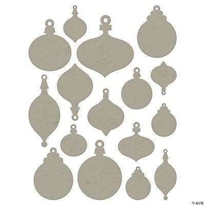 Chip Art Christmas Ornament Die Cuts