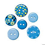 Monochromatic Blue Buttons