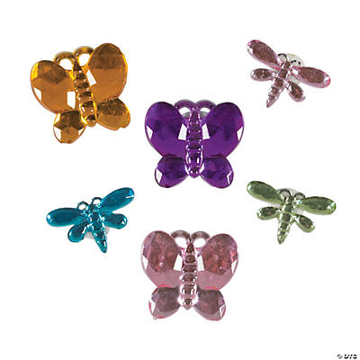 Self-Adhesive Butterfly & Dragonfly Jewels