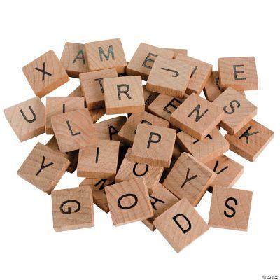 Wood Alphabet Tiles