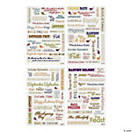 Thanksgiving Phrase Epoxy Stickers