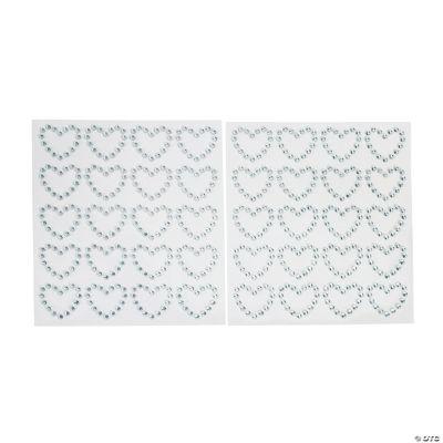 Heart Rhinestone Stickers