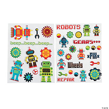 Robot Puffy Stickers