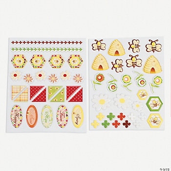 Honeycomb Home Puffy Stickers