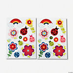Spring Fling Dimensional Printed Stickers