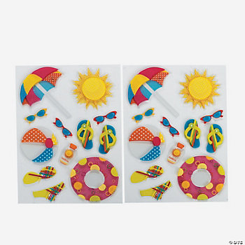 Summer Swiss Dimensional Stickers