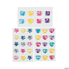 Star, Square & Heart Stickers