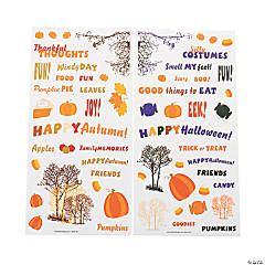 Fall & Halloween Sticker Set