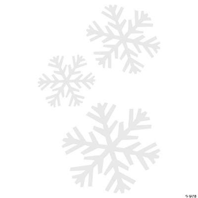 Transparent Snowflake Shapes