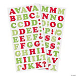 Christmas Alphabet Chipboard Stickers