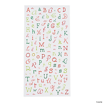 Bright Christmas Alphabet Stickers