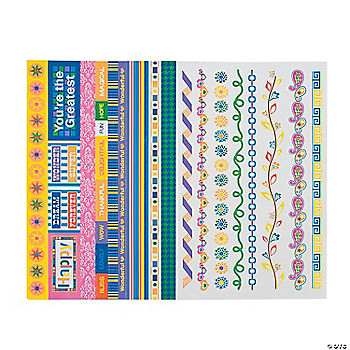Bright Border Stickers Oriental Trading Discontinued