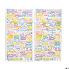 Pastel Word Stickers