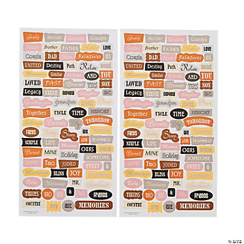 Neutral Word Stickers