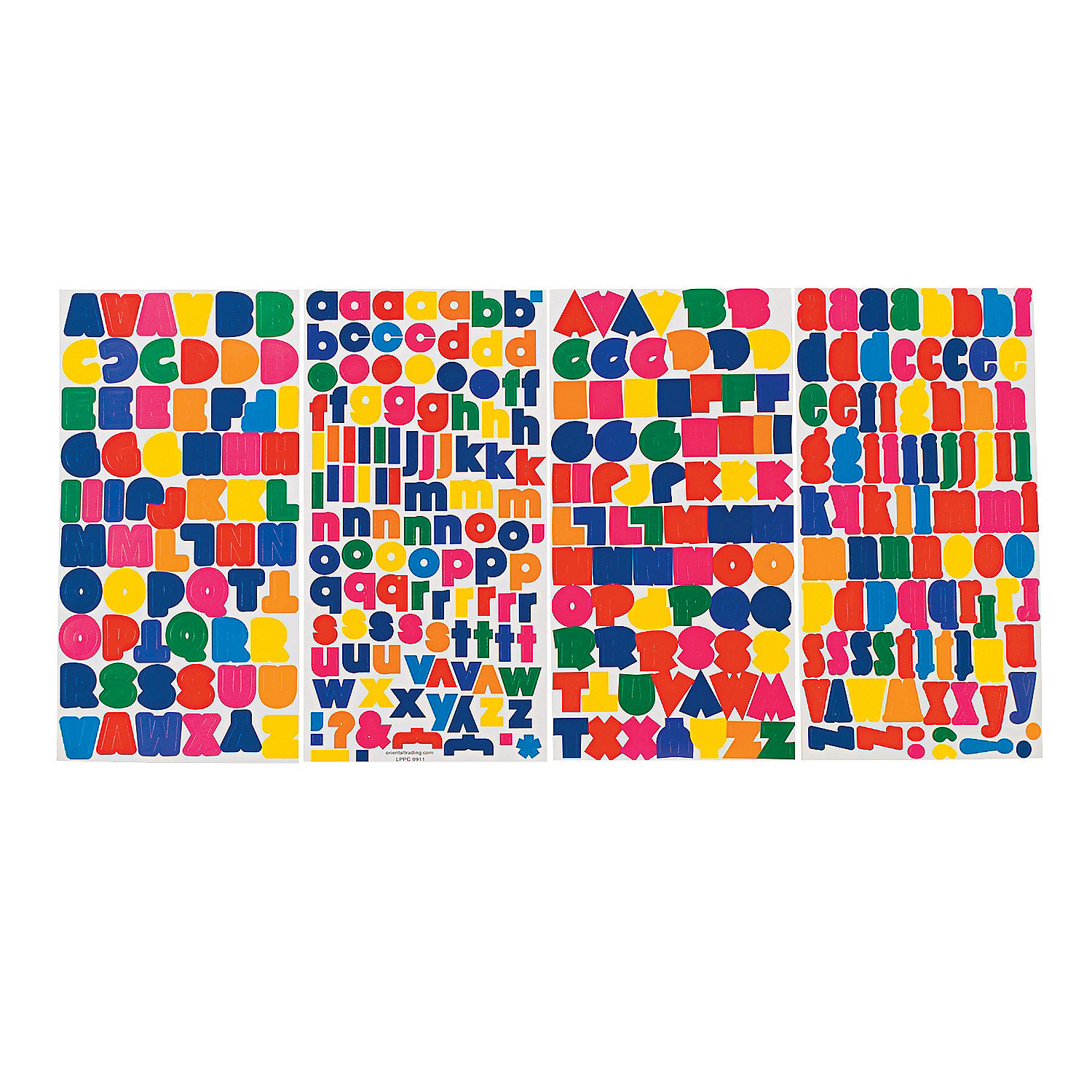 Bright Alphabet Stickers Oriental Trading