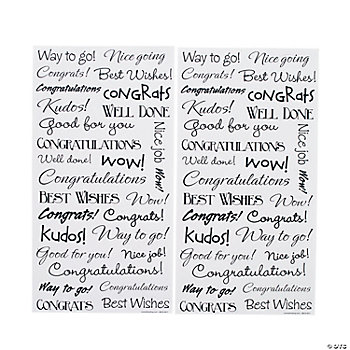 """Congratulations"" Stickers"