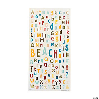 Beach Alphabet Stickers