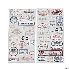 Vintage Title Stickers