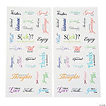 Greeting Card Phrases Sticker Set