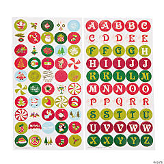 Christmas Bottlecap Stickers