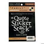 Die Cuts With A View™ Family Quotes Sticker Stack