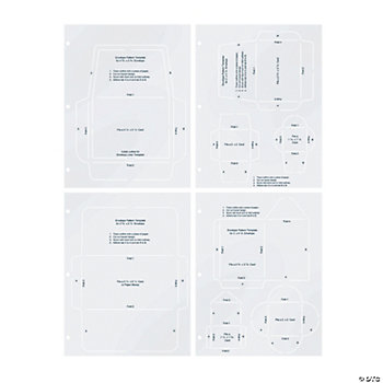 4 Sheets Of Envelope Templates