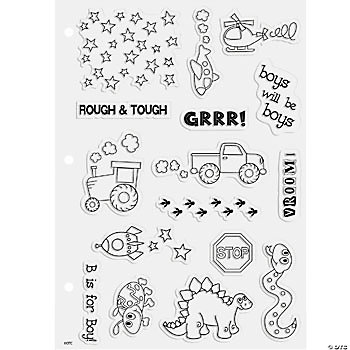 16 Snips & Snails Clear Stamps