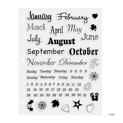 66 Calendar Clear Stamps