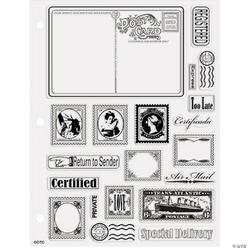 Postcard & Stamp Clear Stamps