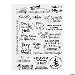 20 Christmas Songs Clear Stamps