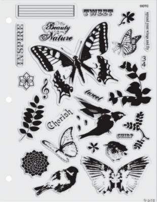27 in Flight Clear Stamps