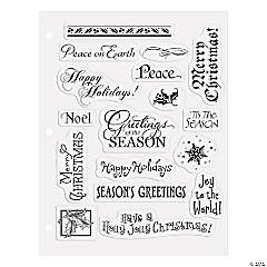 Christmas Card Title Clear Stamps