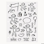 Sock Monkey Clear Stamps