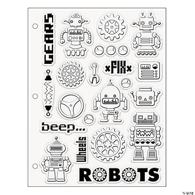 Robot Clear Stamps