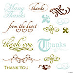 "Elegant ""Thank You"" Stamps"