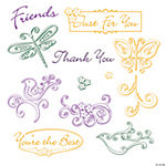 "Whimsical ""Thank You"" Stamps"