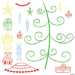 O Christmas Tree Stamps