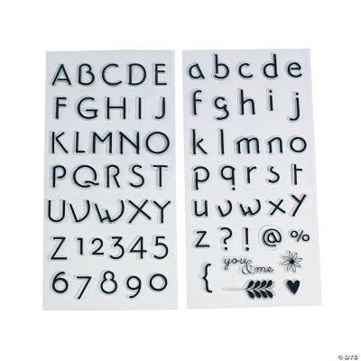 Fancy Script Alphabet Stamp Set