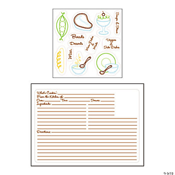 Recipe Card Stamps