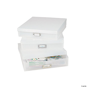 Frosted Storage Boxes With Dividers