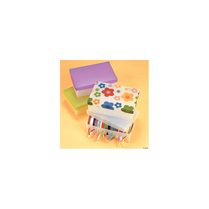 Ribbon Storage Boxes with Lid  sc 1 st  Oriental Trading & Ribbon Storage Boxes with Lid - Discontinued