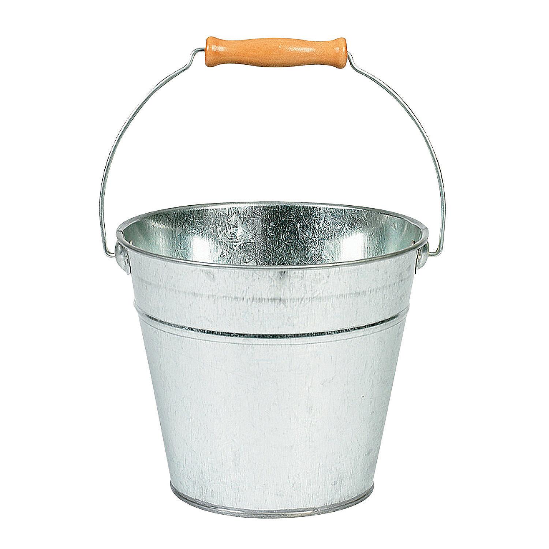 diy large silver tin pail oriental trading