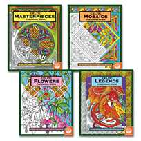 Image Of Celtic Coloring Books Set 4 With 24 Free Markers Sku