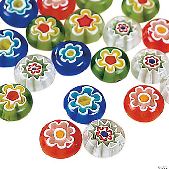 Millefiori Round Beads - 10mm