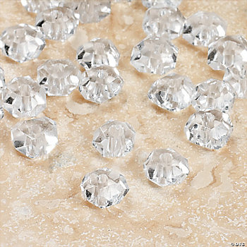 Clear Faceted Flat Round Beads - 5mm