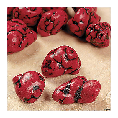 Red Turquoise Beads - 8mm - 24mm