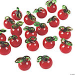 Apple Lampwork Glass Charms - 9mm x 18mm