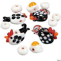 Chicken & Egg Lampwork Glass Beads  - 6mm-20mm
