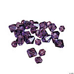 Amethyst Crystal Bicone Beads - 4mm - 6mm